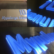 Stainless Steel LED Light Box with 3D Laser Cut Letters Custom Made High-End