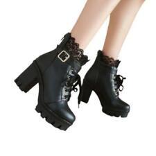 34/43 Blocos de mulheres da moda Punk Laço Salto Fivela UPS cheslea inverno, botinas de tornozelo D