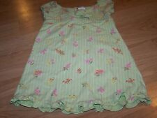 Girls Size 4 Gymboree Casual Green Pink Floral Striped Spring Summer Dress EUC