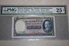 (PL) 1935 $1 H/13 15656 STRAITS SETTLEMENTS/BRITISH ADMINISTRATION PMG 25 NET