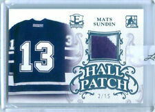 "MATS SUNDIN ""HALL PATCH GAME USED MEMORABILIA /15"" LEAF ENSHRINED HOCKEY 2016"