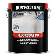 5L Rust-Oleum 7292 floorcoat PU ™ resistente Pavimento PITTURA BIANCO LUCIDO RAL