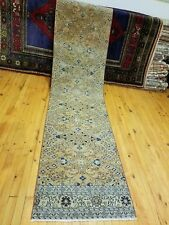 "Primitive Antique 1930-1940s Wool Pile 2'3""× 9'5"" Henna Dye  Bunyan Runner Rug"