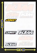 KTM ONO Orange LOGO motorcycle vinyl Racing sticker Car Notebook Kits Decals 01
