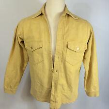 Vtg Sanforized Frostproof Flannel Chamois Hunting Winter Outdoor Shirt 50s 60s M