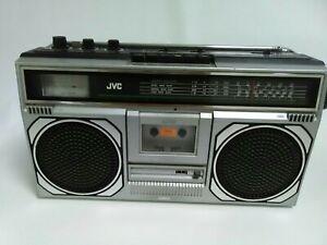 JVC Retro Stereo Radio Cassette Recorder Music Scanner Boombox RC 545 LB B45