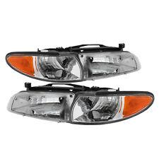 Pontiac 97-03 Grand Prix Chrome Housing Replacement Headlights + Corner Set