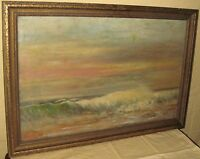 IMPRESSIONIST OIL ON CANVAS ANTIQUE PAINTING BY S.A. GREENE PHILADELPHIA, P.A.