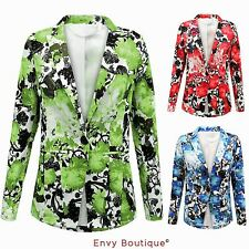 Button Blazer Floral Coats & Jackets for Women