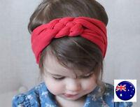 Baby Kid Girl 80' Retro Braided Party bow boho Cotton Headband Hair band Wrap