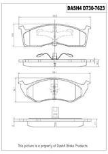 Disc Brake Pad Set-Ceramic Pads Front,Rear Pronto PCD730