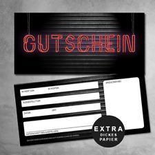 10 Retro Gutscheine, Garagen Gutscheine, Rock Gutscheinkarten