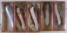 "5 Vintage 1950s Spinner Lure Eppinger Dardevile in Boxes 4"""
