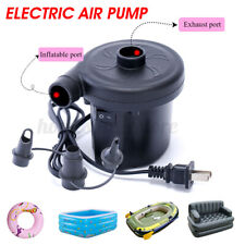 Electric Air Pump For/Paddling Pool Fast Inflator Deflator Camp Air Bed Mattress