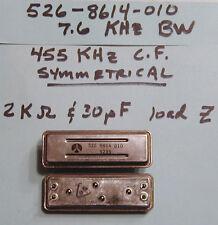 Collins Mechanical Filter 455 Khz Cf, 7.6 Khz Bw Symmetrical (Am) Nos
