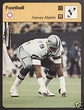 HARVEY MARTIN Dallas Cowboys Football Photo 1978 SPORTSCASTER CARD 39-22A