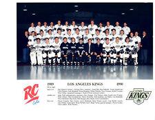 1989 1990 LOS ANGELES KINGS 8X10 TEAM PHOTO  HOCKEY NHL HOF USA