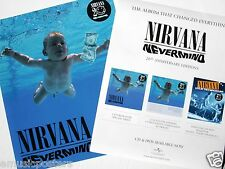 """NIRVANA """"NEVERMIND - 20th ANNIVERSARY EDITION"""" 2-SIDED THAILAND PROMO POSTER"""