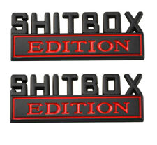 2pcs SHITBOX EDITION Emblems Sticker Car Decal for Truck Badge Black Red