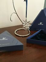 SWAROVSKI Crystal Large Snowflake Star HOLIDAY Ornament Mint/ NIB Authentic