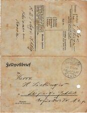 1918 Germany Offices in Turkey Konia Postmark Feldpostbrief to Leipzig