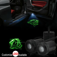 2x Green Reaper Logo Car Door Welcome LED Laser Projector Ghost Shadow Light