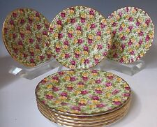 8 1999 Royal Albert Old Country Roses Chintz Collection Salad Plate England NWT