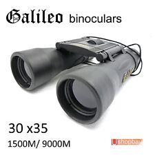 Galileo 30x35 Folding Roof Binoculars Black Day&Night Compact Telescope sports