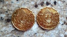 2020 Krewe Of Druids ( Gold probably Aluminum) 2 Mardi Gras Doubloon Coins