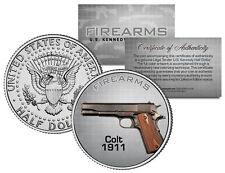 COLT 1911 Gun Firearm JFK Kennedy Half Dollar US Colorized Coin