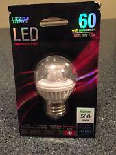 Feit BPGM/CL/500/LED 60W Equivalent G16.5 Medium Base LED Light, Soft White
