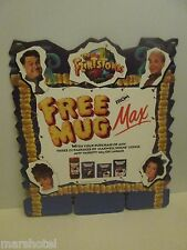 FLINTSTONES MOVIE 1994 CUP PROMO DISPLAY SIGN MAXWELL HOUSE CANADA  JOHN GOODMAN
