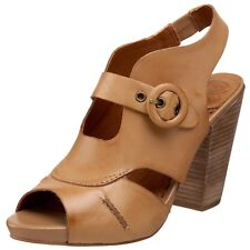 Lucky Brand Paris's Brown Leather CUTE Block Heels Clog Sandal $99 Women's 9 EUC