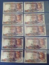 XT MALAYSIA 7TH SERIES AHMAD DON RM 100 PREFIX AJ 0092021-30 2 ZERO LOW NUMBER