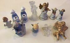 11 Engel Deko Figuren Dekoration Porzellan Glas Glocke Kerzenständer Geige
