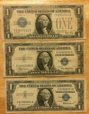 Silver Certificates.. Did you know that from 1928 to 1957 (3) Note Lot