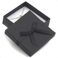 CREAM JEWELLERY GIFT BOX RIBBON BOW FOR RING NECKLACE BRACELET EARRINGS