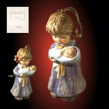 Berta Hummel 'Lullaby For Dolly' Hand Painted Ceramic Ornament ~ Studio Hummel