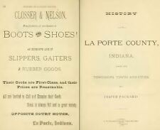 1876 LA PORTE County Indiana IN, History and Genealogy Ancestry Family DVD B36