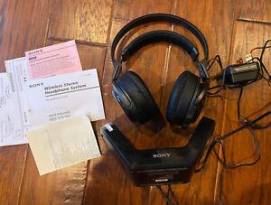 SONY TMR-RF970R Wireless Headphones RF Stereo Transmitter As Is