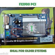 NUOVO NVIDIA GeForce FX5500 256MB grafica PCI SCHEDA VIDEO * PERFETTO 4 VECCHI PC *