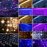 3.5M LED Curtain Fairy String Lights Window Bedroom Christmas Xmas Hanging Decor