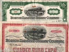Hoard of 138 Boston Elevated Rwy Stox (16) D0X (32) Revenue Stamps (90) 36c Each