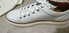 Bally Men's White Hernando 007  Leather Sneakers White/Burgundy