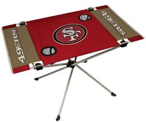San Francisco 49ers Endzone Tailgate Table [NEW] NFL Portable Chair Fold Party