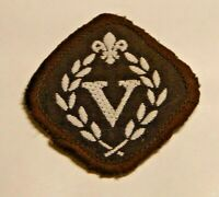 Venture Scouts award cloth badge, approx 1.5 inch square, colour is brown.