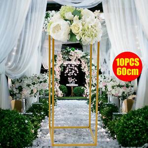Wedding Celebration Flower Stand Metal Vase Stand Floor Metal Column Floral Rack