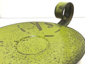 HANOVA enamel lime green lava candle holder mid-century 70's ReTRo Vtg Christmas