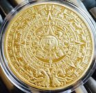 The Prophecy Mayan Aztec Coin Finished In Gold .999 1oz 40mm Collectable Medal