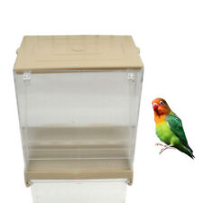 Pet Bird Seed Gravity Feeder Parrot Pigeon Splash Proof Automatic Food Container